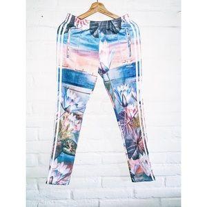 Adidas || Curso D' Agua' Print Track Pants XS